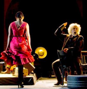 """Milano. Una scena di """"Don Chisciotte - Opera Pop"""" al Teatro Menotti."""