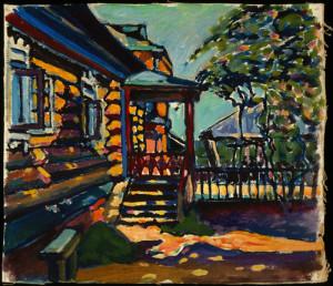 Senza titolo (1917), olio su tela, cm 27.5x31.5