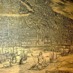 """Particolare della xilografia """"Venetie MD"""" di Jacopo de' Barbari"""