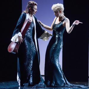 """Milano. Pia Lanciotti e Elena Ghiaurov in una scena di """"Non si sa come"""" di Pirandello al Piccolo Teatro Grassi (foto Norberth)"""
