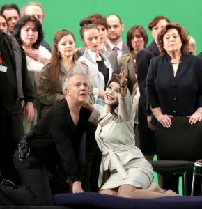 """Milano. La scena della pazzia di Marfa (Olga Peretyatko) in """"Una sposa per lo Zar"""" di Rimskij Korsakov alla Scala"""