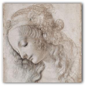 25. Leonardo da Vinci Testa femminile con sguardo verso il basso