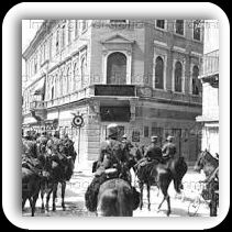 Cavalleria italiana a Gorizia durante la Grande Guerra