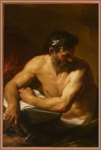 """Pompeo Girolamo Batoni, """"Vulcano"""" (1750 ca.). Olio su tela. Musei Civici di Como."""