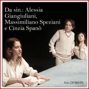 a La donna che legge  da sx Alessia Giangiuliani, Massimiliano Speziani, Cinzia Spanò - Foto DORKIN
