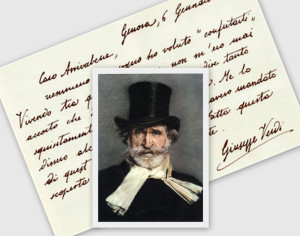 collage verdi lettera
