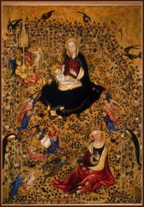 102. Michelino da Besozzo o Stefano di Giovanni Madonna del roseto Id 223