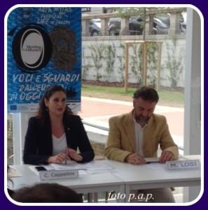 """MILANO. Cristina Cappellini, assessore alla Cultura della Regione Lombardia, e il regista Michele Losi presentano gli spettacoli e gli incontri di """"Meeting the Odyssey"""""""