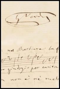 autografo Verdi