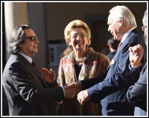 Il Maestro Riccardo Muti, la giornalista Carla Maria Casanova e il Sovrintendente della Scala, Alexander Pereira