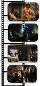 La scenografa Margherita Palli ha ideato uno spazio multiplo verticale, come per un set cinematografico