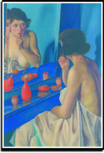 """Cagnaccio di San Pietro, """"Donna allo specchio"""", 1927. Verona, Fondazione Domus"""